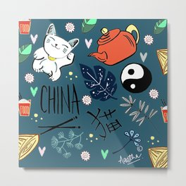 China in Short Metal Print