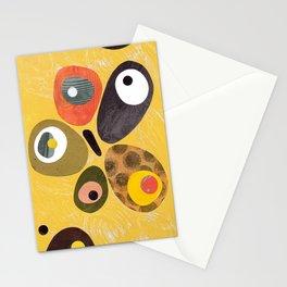 High Key Lemon Retro Mid Century Minimal Collage Stationery Cards