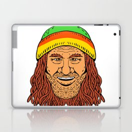 Rastafarian Head Front Drawing Color Laptop & iPad Skin