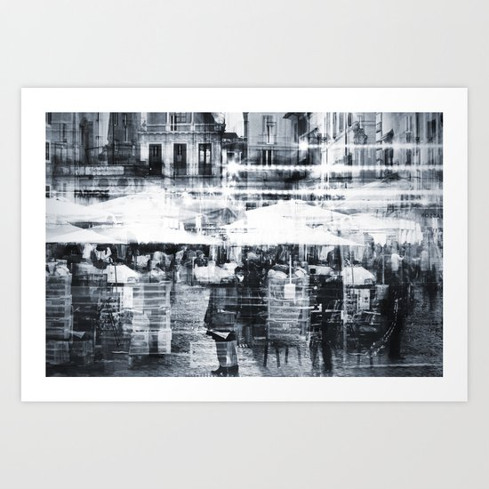 Roma - Campo dei Fiori Art Print