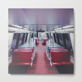 Lonely Metro Metal Print