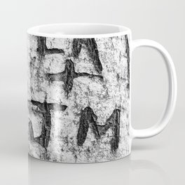 Love messages carved in the tree in Lover's Lane, Green Gables Coffee Mug