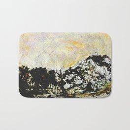 Golden mountains Bath Mat
