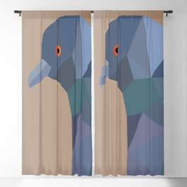 PIGEON LOW POLY ART Blackout Curtain