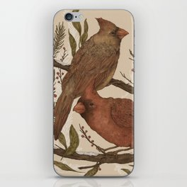 Wintery Cardinals iPhone Skin