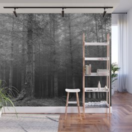 Darkness - Black and white - North Kessock, Highlands, Scotland Wall Mural