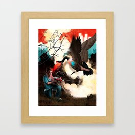 Suburban Soldier Framed Art Print