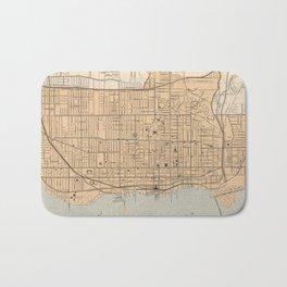 Vintage Map of Toronto (1906) Bath Mat