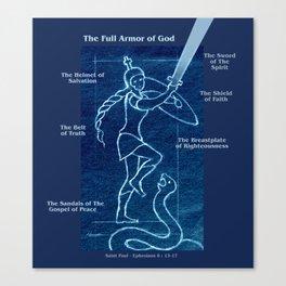 Full Armor of God - Warrior Girl 4 Canvas Print