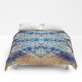 Mountain Trail Edit Mirrored Comforters