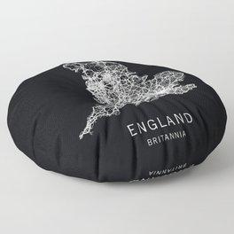 England Road Map Floor Pillow