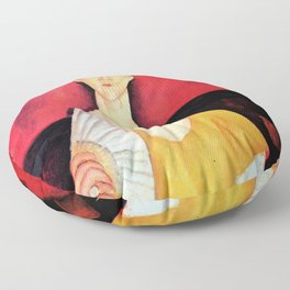 """Amedeo Modigliani """"Woman with a Fan"""" Floor Pillow"""