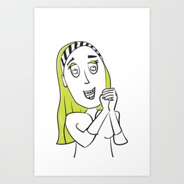 Apple of My Eye Idiom Art Print