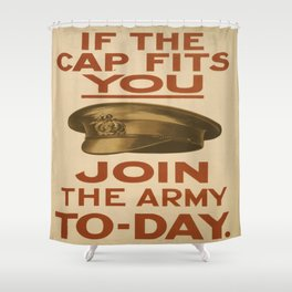 Vintage poster - If the Cap Fits You Shower Curtain