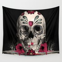 rockabilly Wall Tapestries featuring Pulled Sugar by Kristy Patterson Design