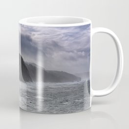 Cape Arago's Rigid Coastline at Sunrise Coffee Mug