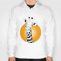 giraffes Hoodies featuring giraffes  by Eda ERKOVAN