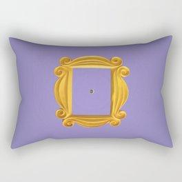 Friends Purple Yellow Door Frame Rectangular Pillow