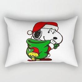 Santa Snoopy Beautiful christmas Rectangular Pillow