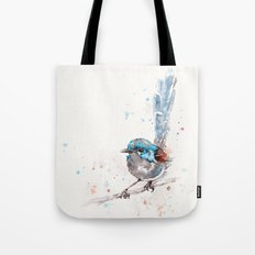 Mischief In The Making (Variegated Fairy Wren) Tote Bag