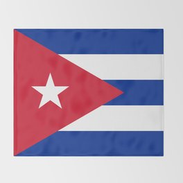 National flag of Cuba - Authentic version Throw Blanket