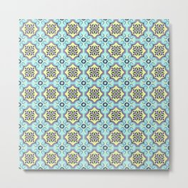 Floor Series: Peranakan Tiles 76 Metal Print