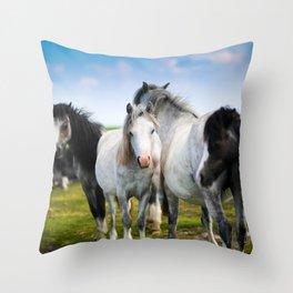 Horses Horses 4 Throw Pillow
