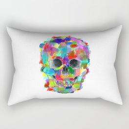 Watercolor Skull Rectangular Pillow