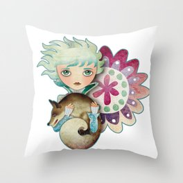 Wintry Little Prince Throw Pillow