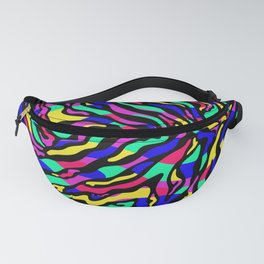 Colorful abstract psychedelic pattern. Digital illustration Fanny Pack