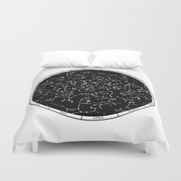 Star Map  Duvet Cover