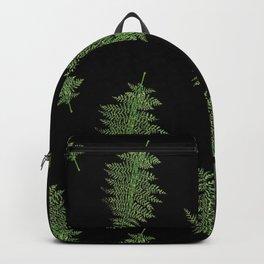 Vintage Fern Toss in Black Backpack