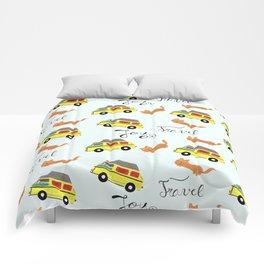 Travel is joy - Pattern Comforters