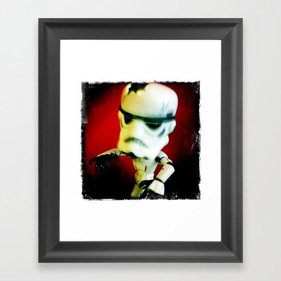 Zombie Stormtrooper Attack Framed Art Print