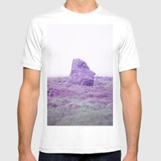 Foggy Stone White MEDIUM Mens Fitted Tee