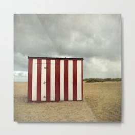 The Beach Hut, Great Yarmouth Metal Print