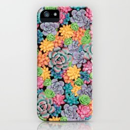 Rainbow Candy Succulent Plants | Colorful Cacti iPhone Case