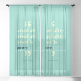 A Word Is Power Sheer Curtain