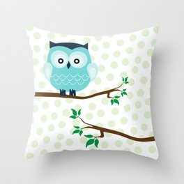 owl & branch Throw Pillow