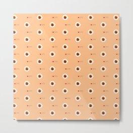 Sweets coffee pattern Metal Print