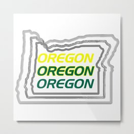 Oregon Three Ways Metal Print