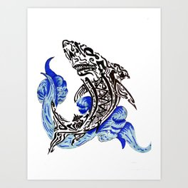 Shark Attack Art Print