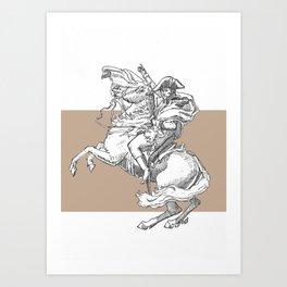 Riders of an art Art Print