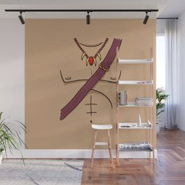 Red Warrior Wall Mural