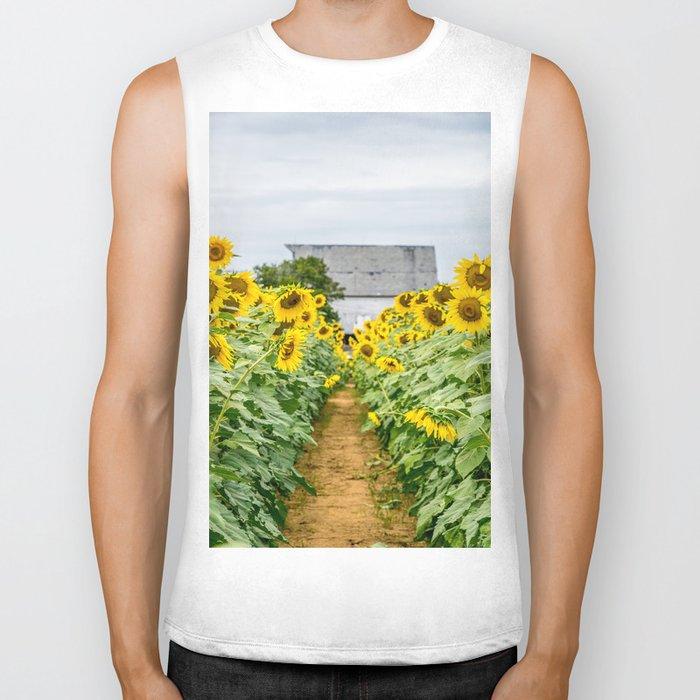 Follow the Yellow Flower Road Biker Tank