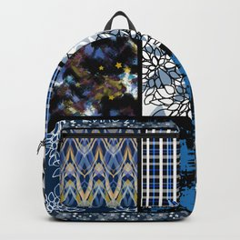 Favorite blanket and pillows . Patchwork 2 Backpack