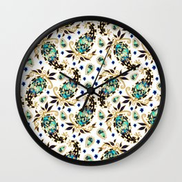 Paisley obsessions Wall Clock