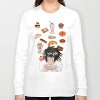 death note Long Sleeve T-shirts featuring L from Death Note by Naineuh