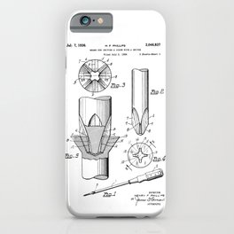 Phillips Screwdriver: Henry F. Phillips Screwdriver Patent iPhone Case