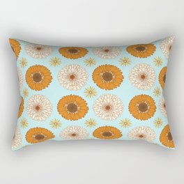 Gerber Daisy Floral Rectangular Pillow